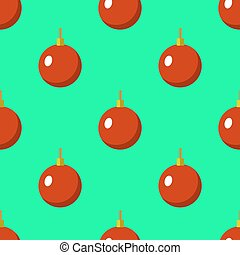 plat, stijl, bal, ouderwetse , seamless, illustratie, kerstmis, vector, modelleer ontwerp