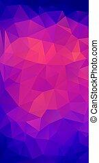 plat, stijl, driehoek, shapes., retro, achtergrond