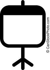 plat, style, écran projecteur, ui, illustration, apps, vecteur, noir, websites., icône