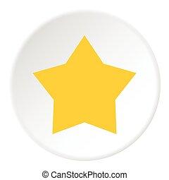 plat, style, céleste, étoile, jaune, icône