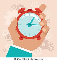 plat, style, concept, gestion, temps