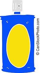 plat, style, couleur, vaporisez boîte, dessin animé