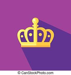 plat, style, couronne, illustration, conception