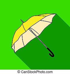 plat, style, golf, illustration., icône, club, symbole, isolé, arrière-plan., vecteur, blanc, parasol, stockage
