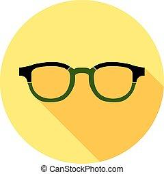 plat, style, héros, collection., masque, avatar, lunettes,...