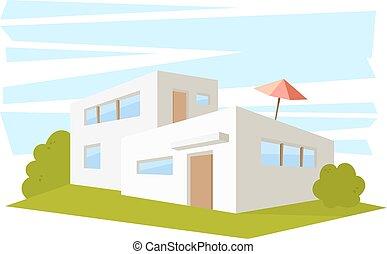 Maison, style, moderne, dessin. 10, style, maison, moderne ...