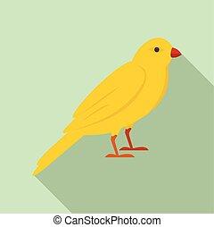plat, style, or, chanson, icône, oiseau