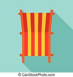 plat, style, pont, icône, chaise, plage