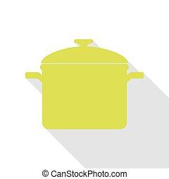 plat, style, signe., cuisine, poire, ombre, path., moule, icône