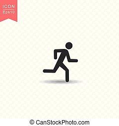 plat, style, silhouette, figure, simple, illustration, arrière-plan., courant, vecteur, homme bâton, transparent, icône