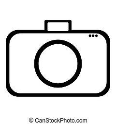 plat, symbole, appareil photo, conception, icône