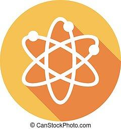 plat, symbole, atome, icône