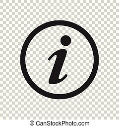 plat, symbole information, site, illustration, ui., vecteur, parole, toile, app, style., conception, logo, icône
