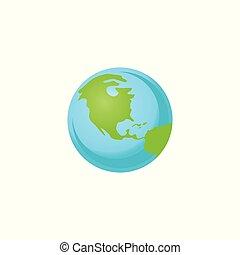 plat, système, illustration, planète, vecteur, solaire, la terre, style.