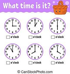 plat, temps, basket., vecteur, bois, children., couleur, ...