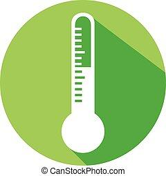 plat, thermomètre, icône