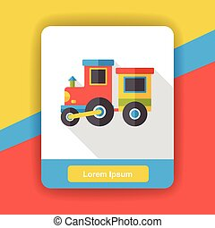plat, train, jouet, icône
