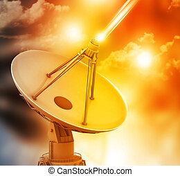 plat, transmission, satellite, données