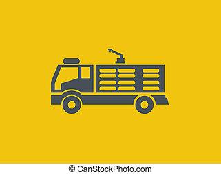 plat, transport, icône