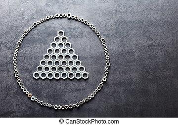 plat, trojúhelník, kov, cvok, tkanivo, grafické pozadí, kruh