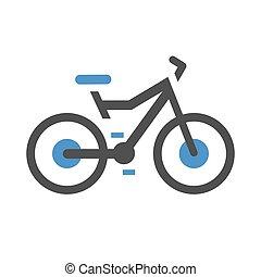 plat, vélo, icône