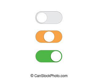 plat, van, eenvoudig, knoop, knevel,  switch,  Vector
