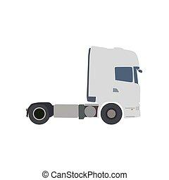 plat, vecteur, camion, illustration