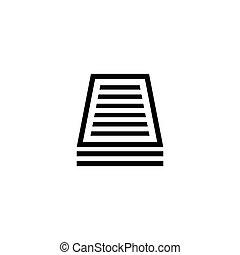 plat, vecteur, document, icône
