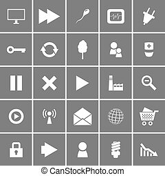 plat, vecteur, ensemble, icônes, universel, 2