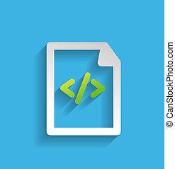 plat, vecteur, /, programme, fichier, icône