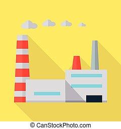 plat, vecteur, usine, illustration, design.