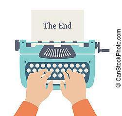 plat, verhaal, einde, illustratie