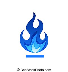plat, vlam, gas, stijl, vector, vuur, illustratie