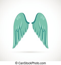 plat, vleugel, pictogram