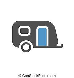 plat, voertuig, pictogram