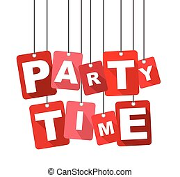 plat, web, goed, informatietechnologie, time., vector, ontwerp, achtergrond, feestje, adapted, rood, design.