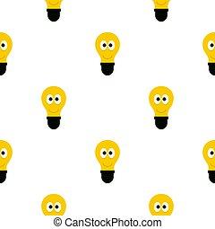 plat, yeux, lumière, modèle, ampoule, sourire