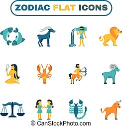 plat, zodiac, pictogram