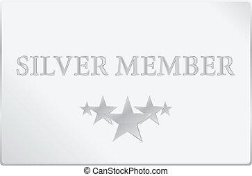 plata, calidad de miembro, tarjeta
