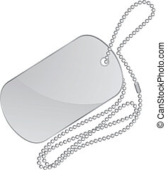 plata, etiqueta de la identidad