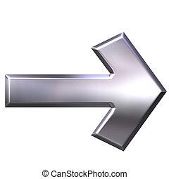 plata, flecha, 3d