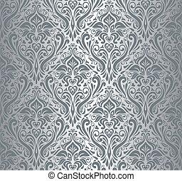plata, lujo, vendimia, papel pintado
