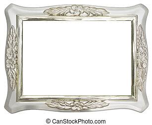 plata, marco de la foto