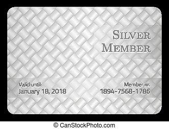 plata, miembro, tarjeta, con, diagonal, cruce, barra, plantilla