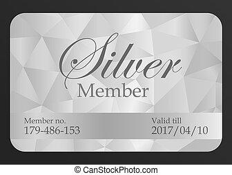plata, miembro, tarjeta