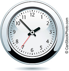 plata, reloj