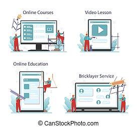 plataforma, ajustador, online, ou, construtor, industrial, set., serviço, instalador