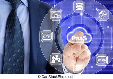 plataforma, como, un, servicio, experto, en, red, plano de fondo