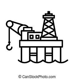 plataforma costa afuera del aceite, icono