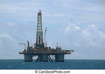 plataforma costa afuera del aceite